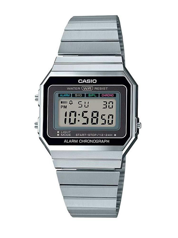 Damen Digital Quarz Uhr mit Edelstahl Armband A700WE-1AEF