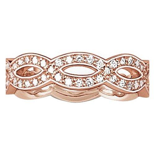 Damen-Ring Glam und Soul 925 Silber teilvergoldet Zirkonia weiß Rundschliff TR1973-416-14