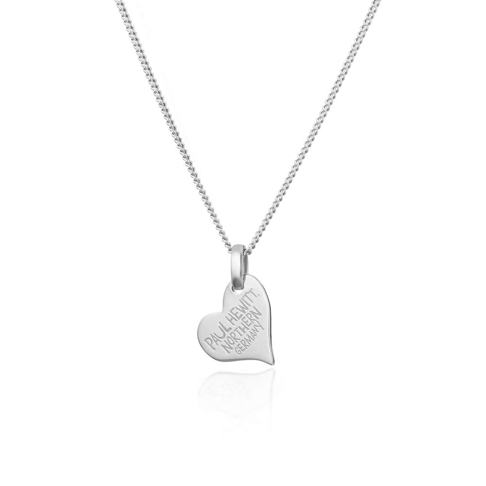 Herz Halskette Damen North Love Plated Gold aus 925 Sterling Silber