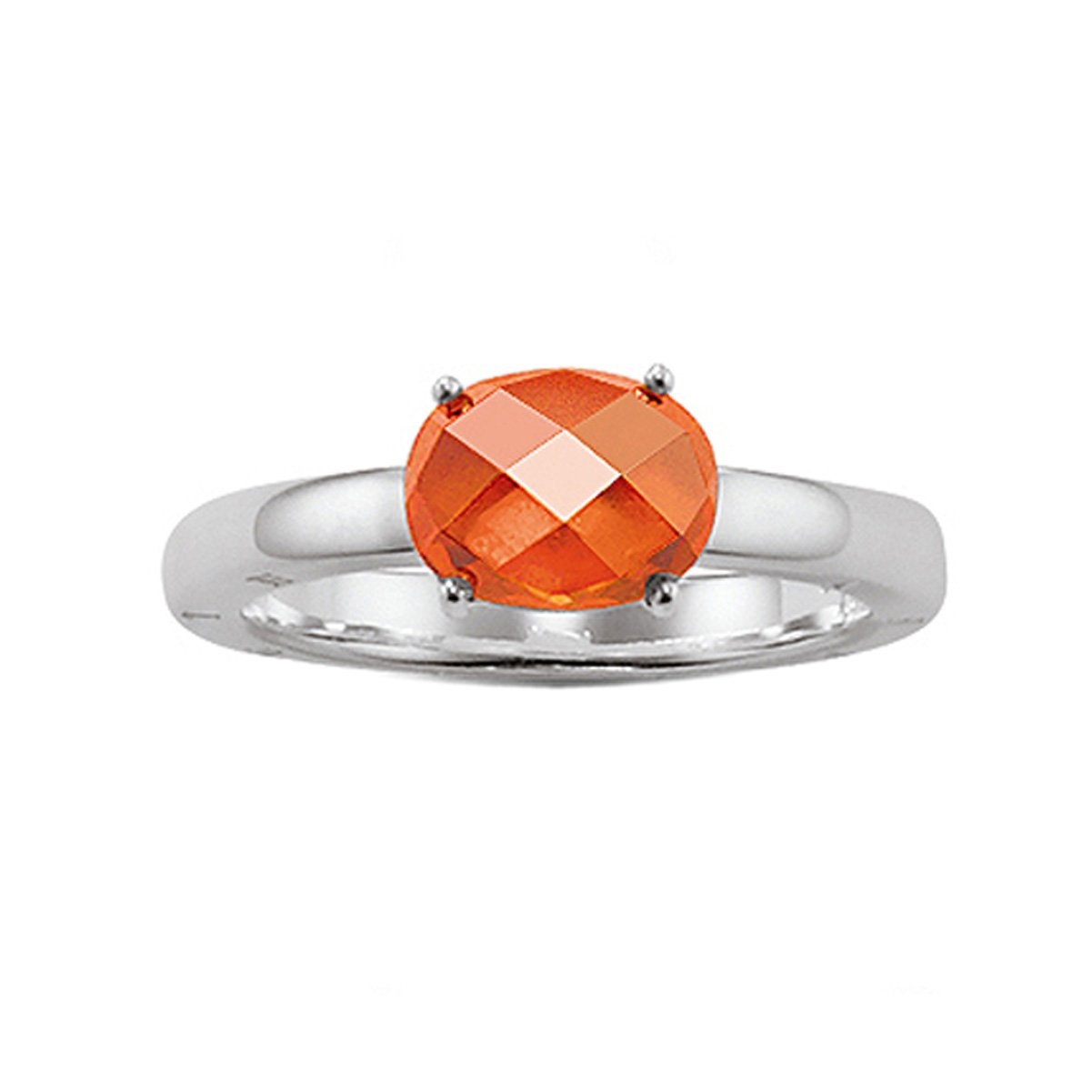 Damen-Ring Seasonal Sterling-Silber Zirkona orange Gr.54 TR1851-051-8-54