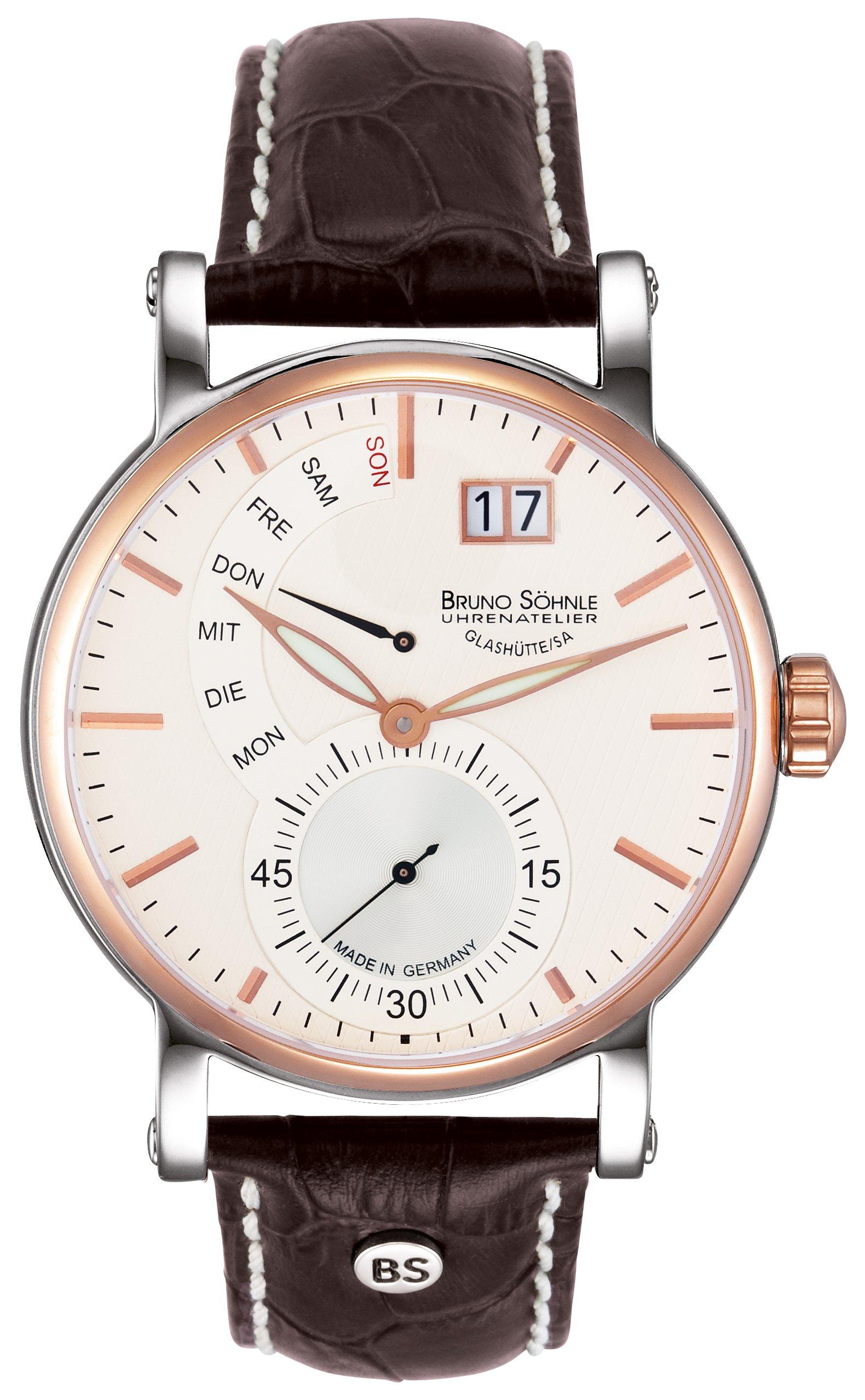 Herren Analog Quarz Uhr mit Leder Armband 17-63073-247