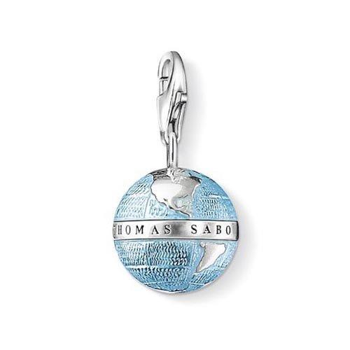 Damen-Charm-Anhänger Weltkugel Charm Club 925 Sterling Silber 0754-007-1