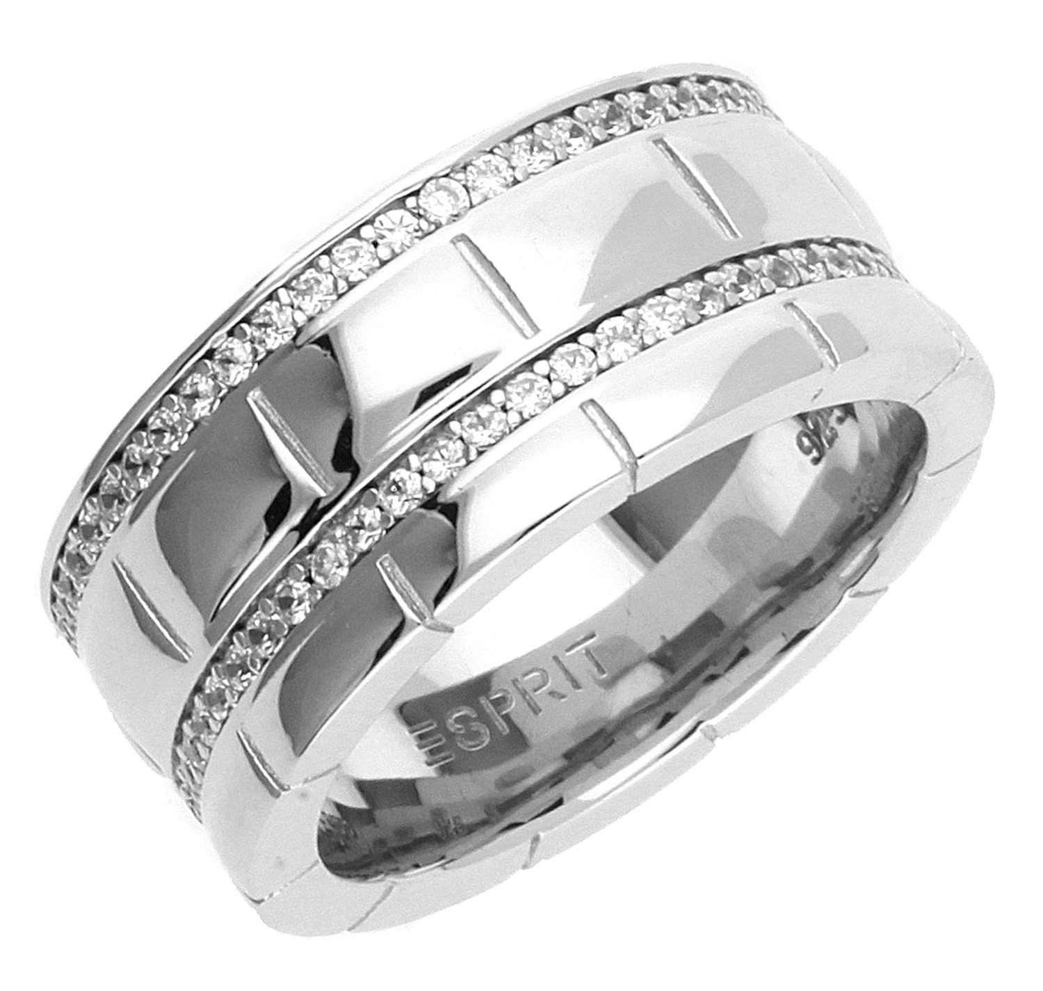 Damen Ring Silber Pure Houston Zirkonia ESRG91524A1