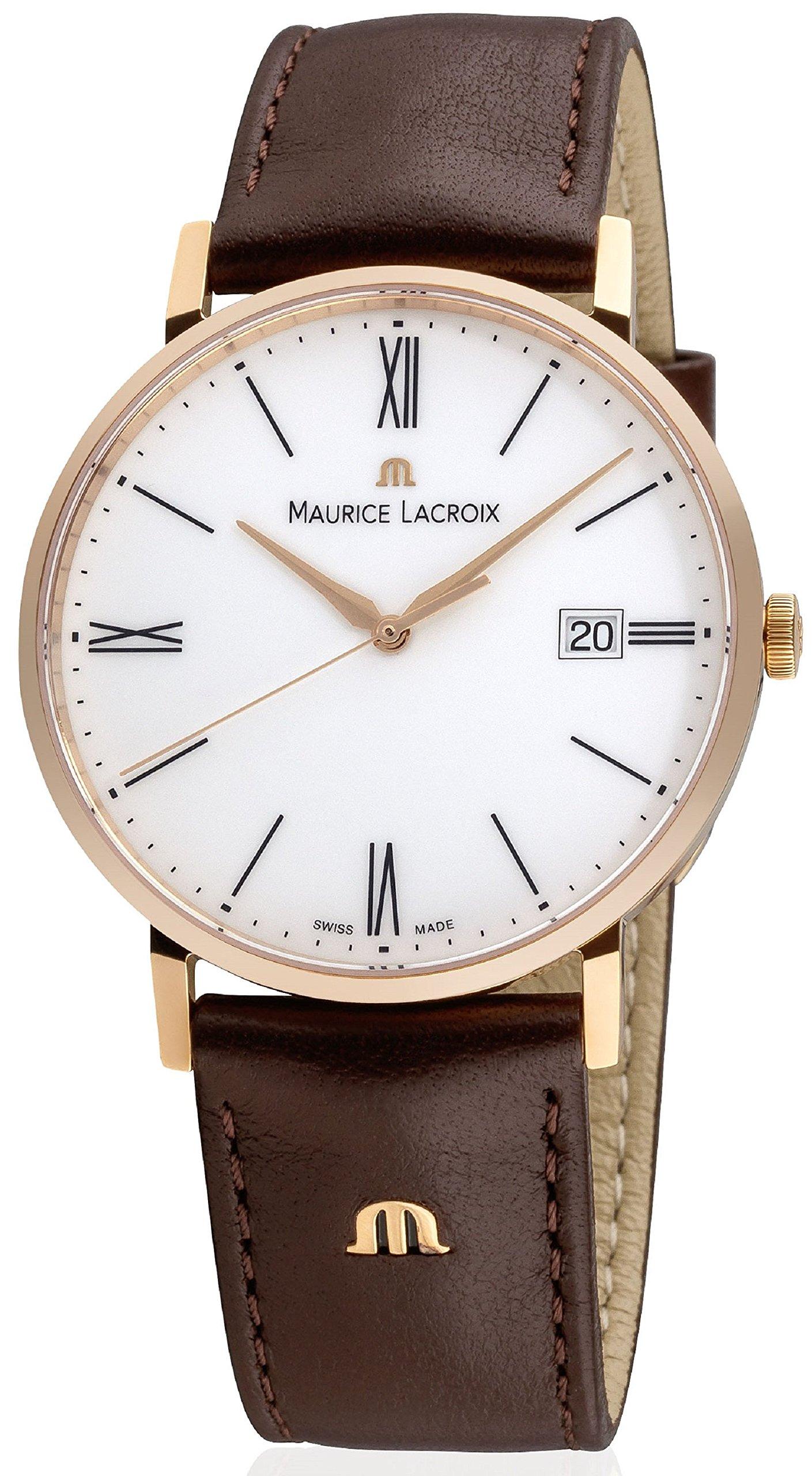 Maurice Lacroix Quarzuhren  Eliros Herren-Armbanduhr Lederband EL1087-PVP01-110-002