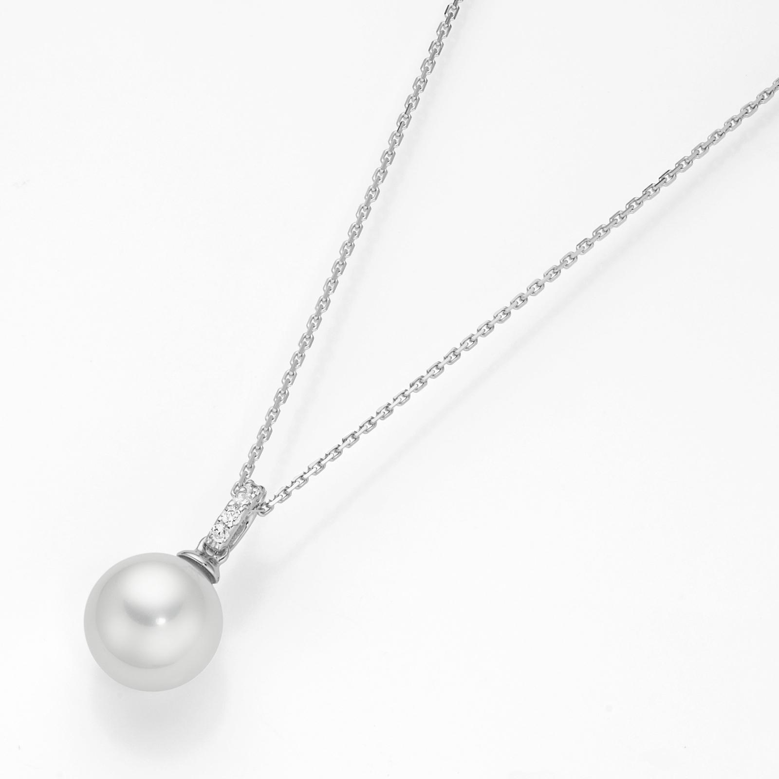 Anhänger - Muschelkern Perle