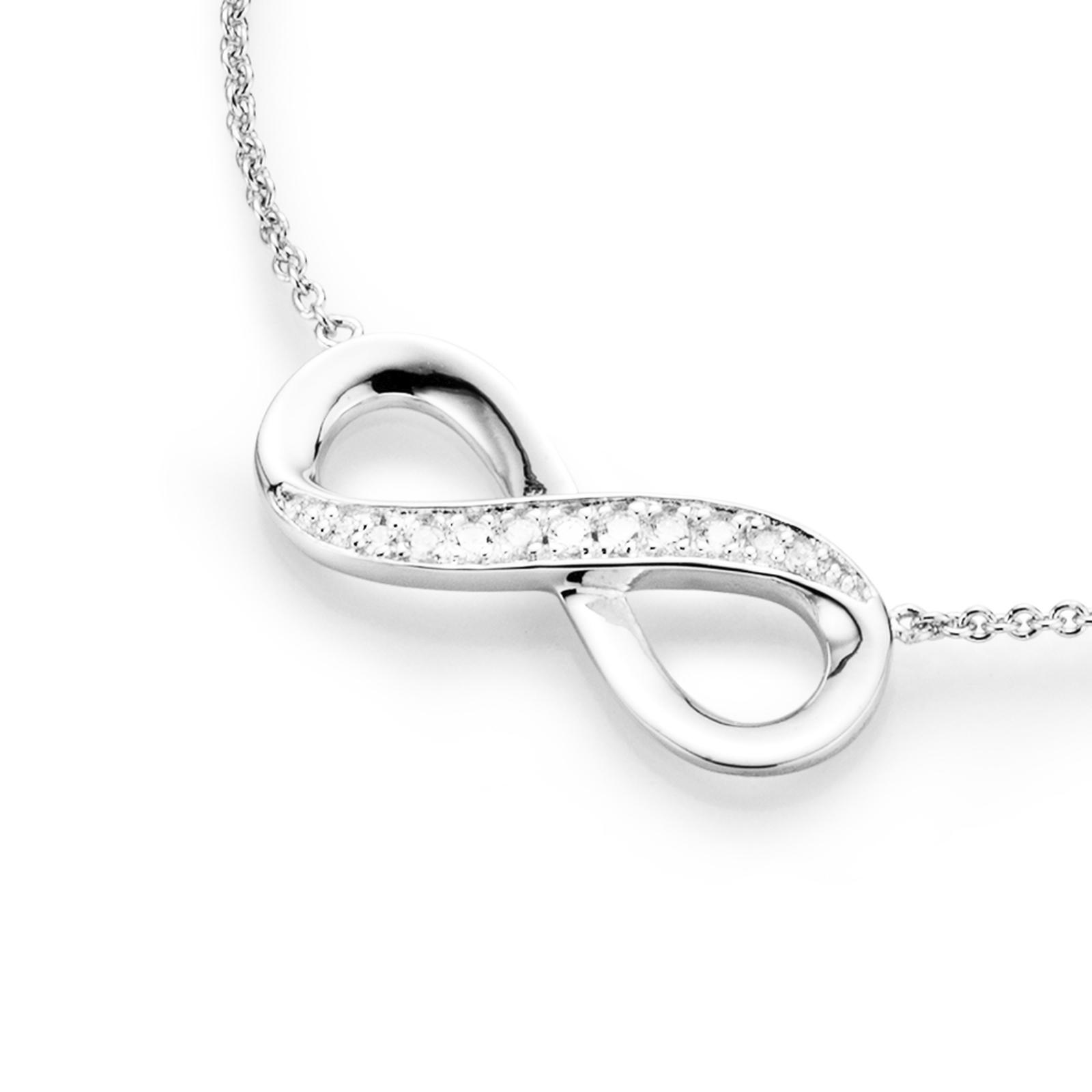 filigran mit Infinityzeichen und Zirkonia, Silber 925