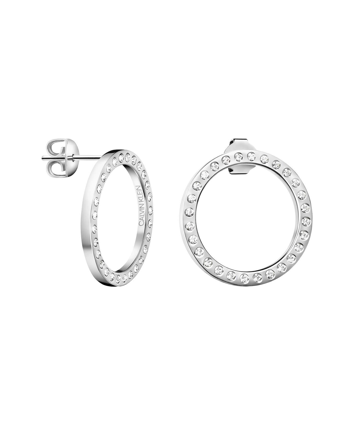 Damen-Creole Edelstahl/Kristall Swarovski Kristalle One Size 87563464