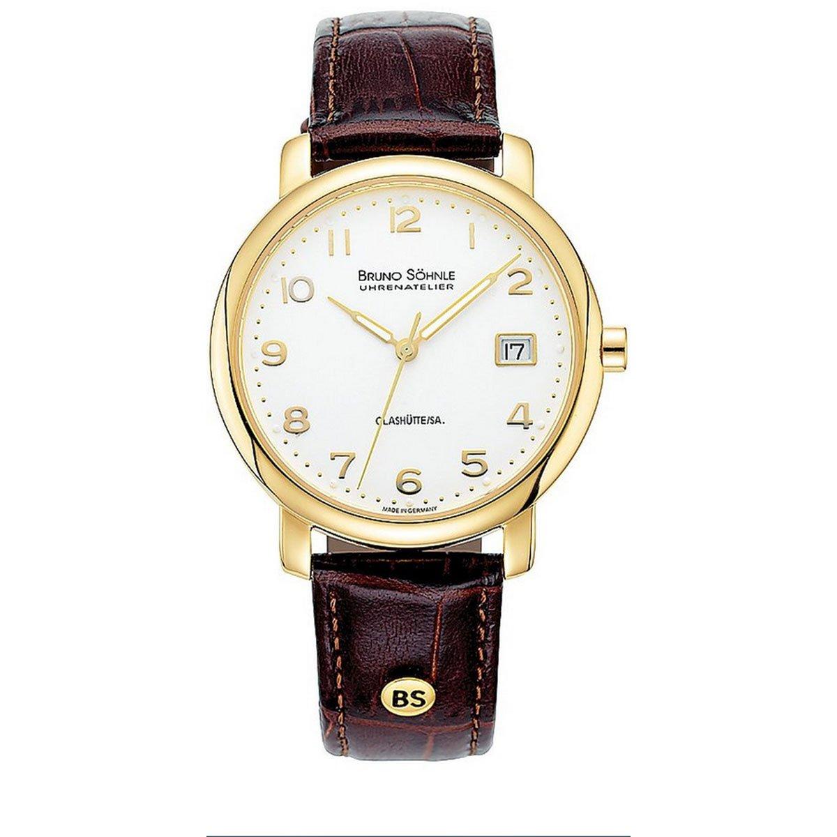 Herren Analog Quarz Uhr mit Leder Armband 17-33016-941