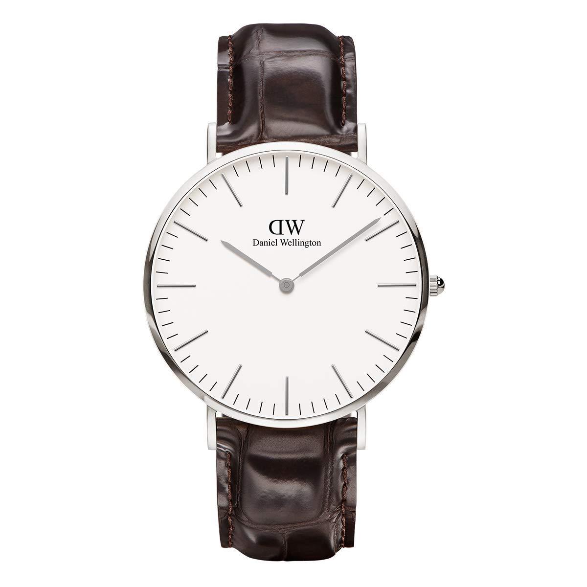 Daniel Wellington Trenduhren  Classic York, Dunkelbraun/Roségold Uhr, 40mm, Leder, für Herren