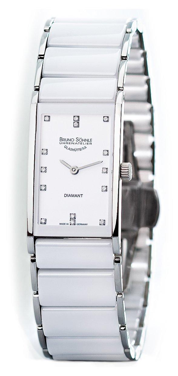 Damen Analog Quarz Uhr mit Verschiedene Materialien Armband 17-93099-952