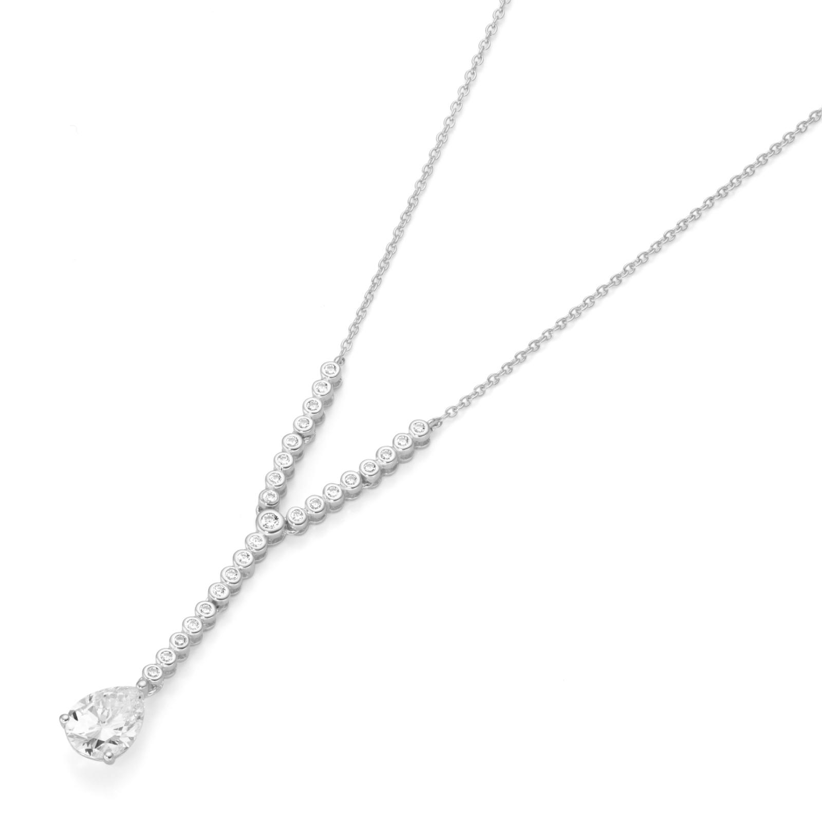 wundervoll und romantisch mit Zirkonia Y Design, Silber 925