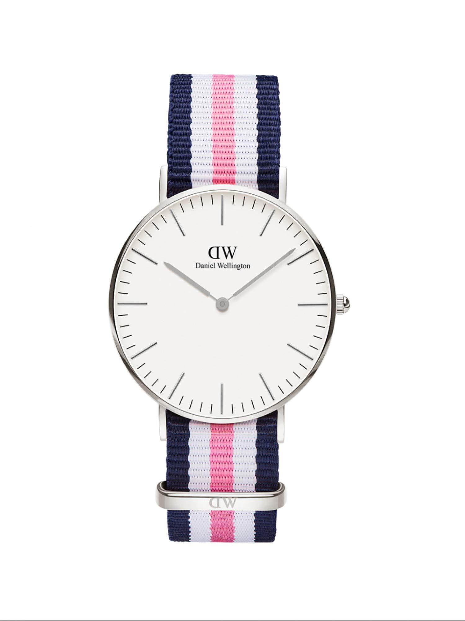 Classic Southampton, Blau-rosa-weiß/Silber Uhr, 36mm, NATO, für Damen und Herren