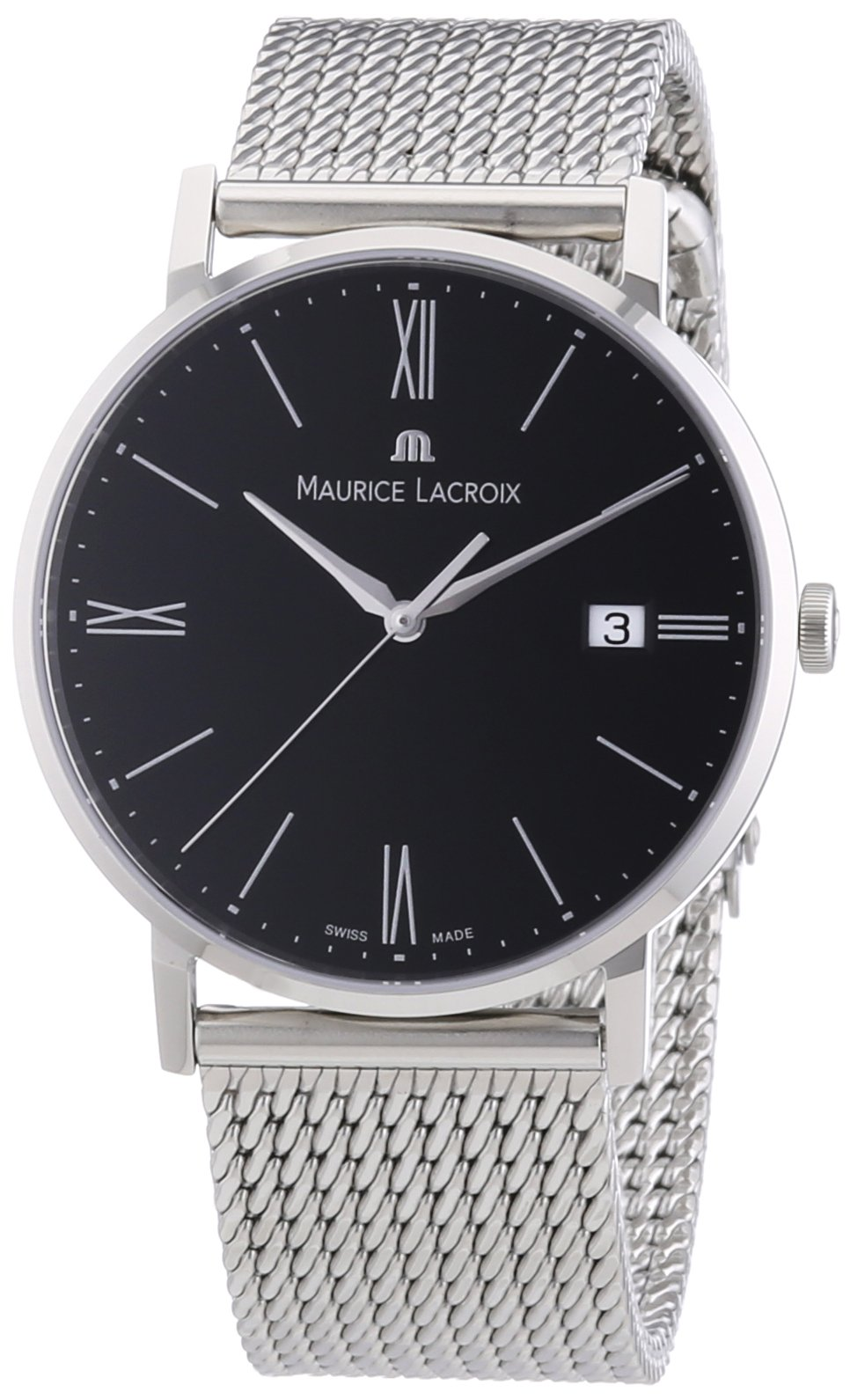 Maurice Lacroix Quarzuhren  Herren-Armbanduhr XL Eliros Analog Quarz Edelstahl EL1087-SS002-310
