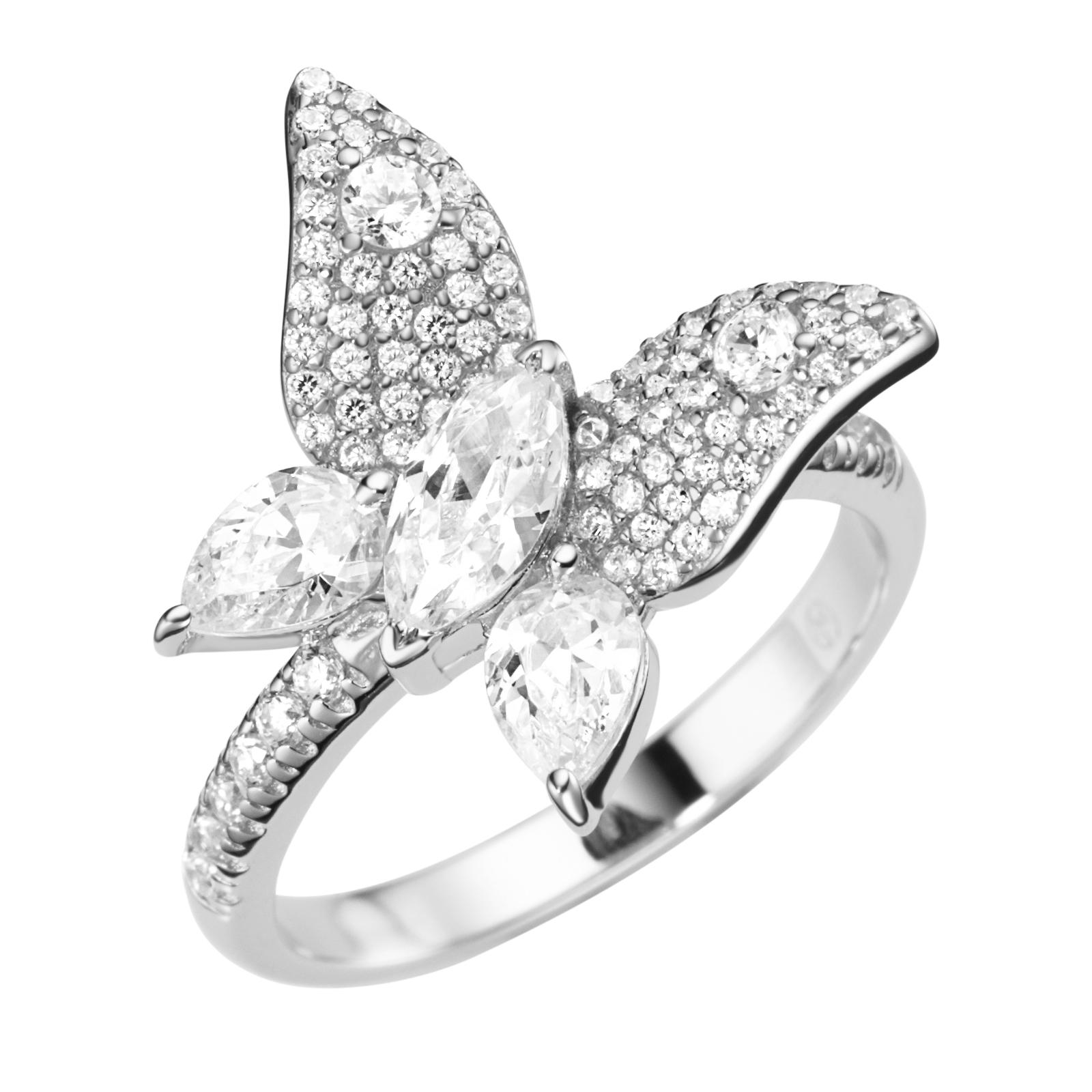 in Schmetterlingsform, Silber 925