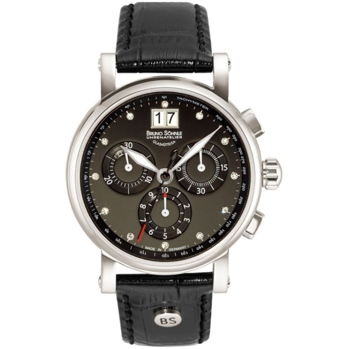 Damen-Armbanduhr Armida Chronograph Quarz Leder 17-13115-751