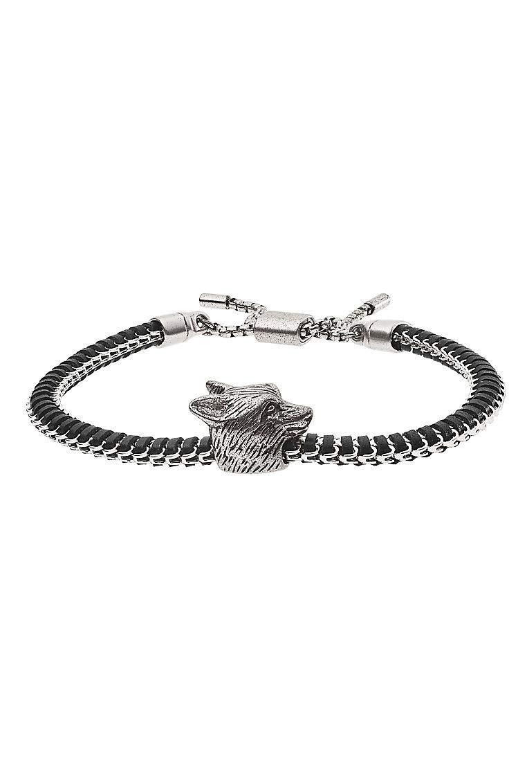 EGS2661040 Herren Armband Edelstahl Silber Schwarz 26 cm