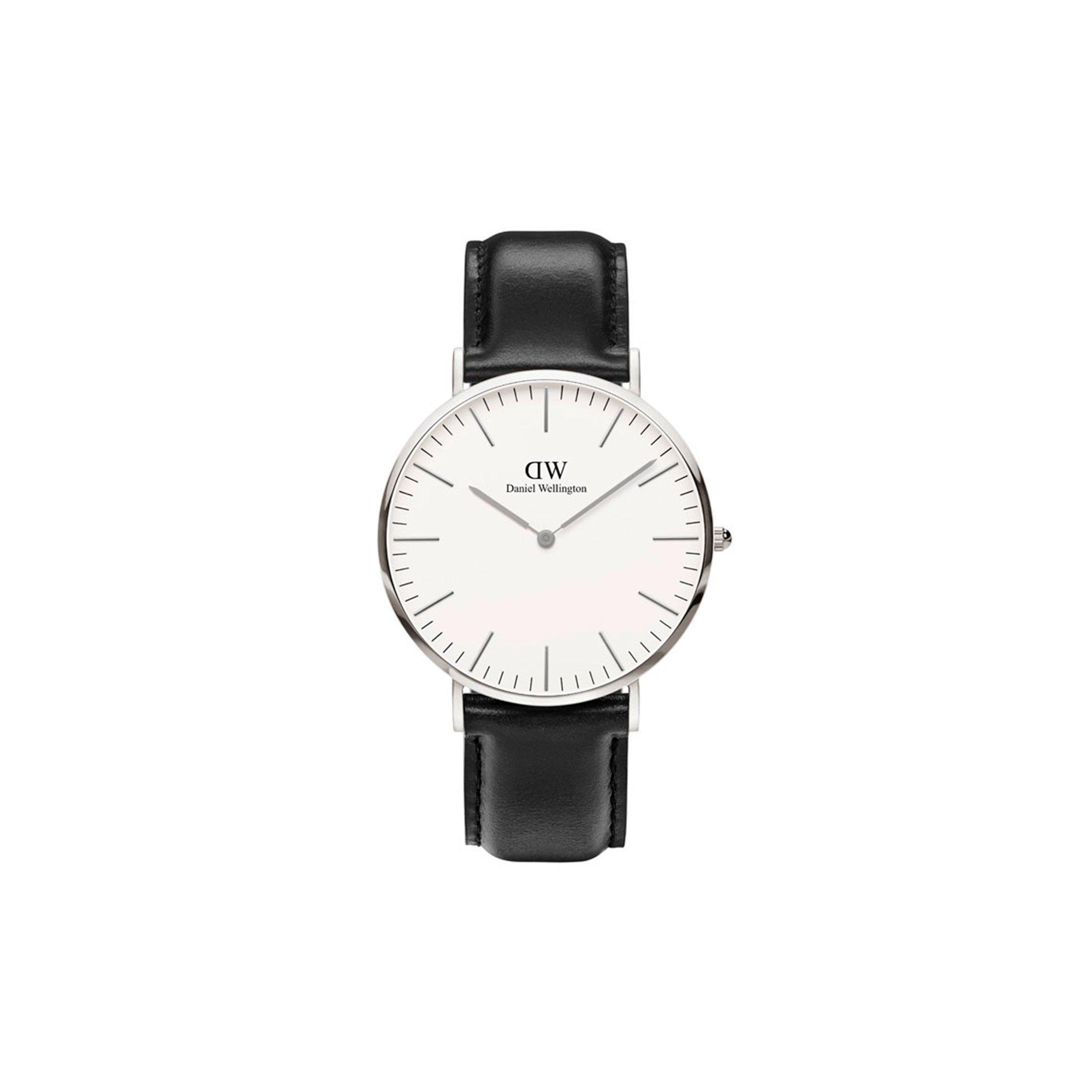 Daniel Wellington Trenduhren  Herren Analog Quarz Uhr mit Leder Armband DW00100020