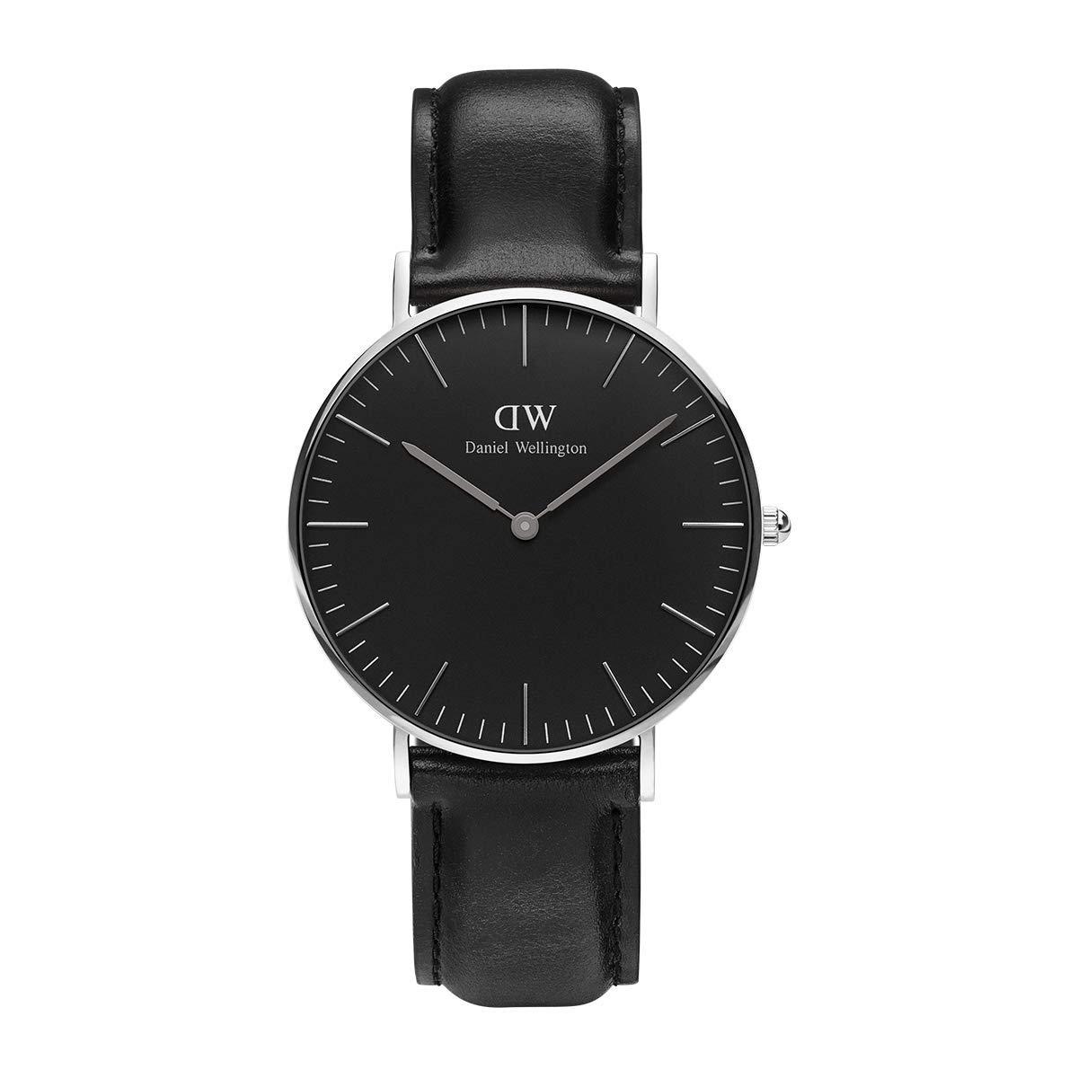 Classic Sheffield, Schwarz/Silber Uhr, 36mm, Leder, für Damen und Herren