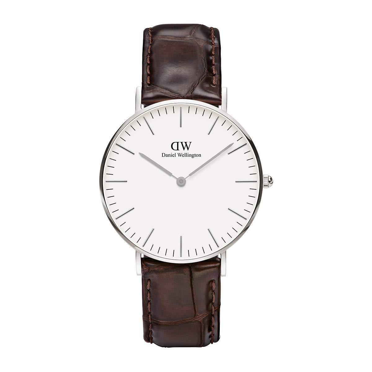 Daniel Wellington Trenduhren  York Silver Uhr Damen Armbanduhr Bandfarbe Braun 0610DW NEU