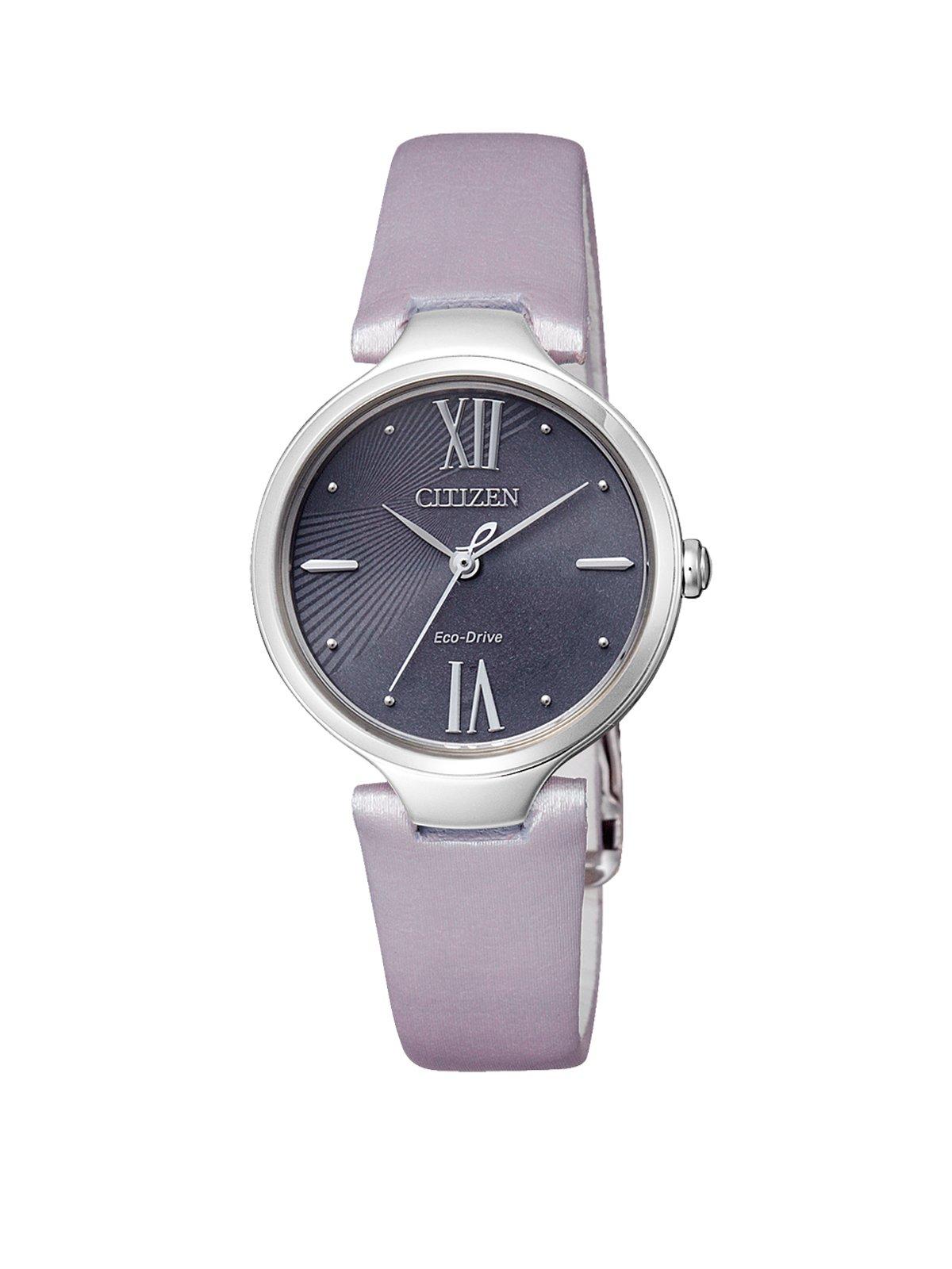 Damen-Armbanduhr XS  L Analog Quarz Leder EM0040-47H