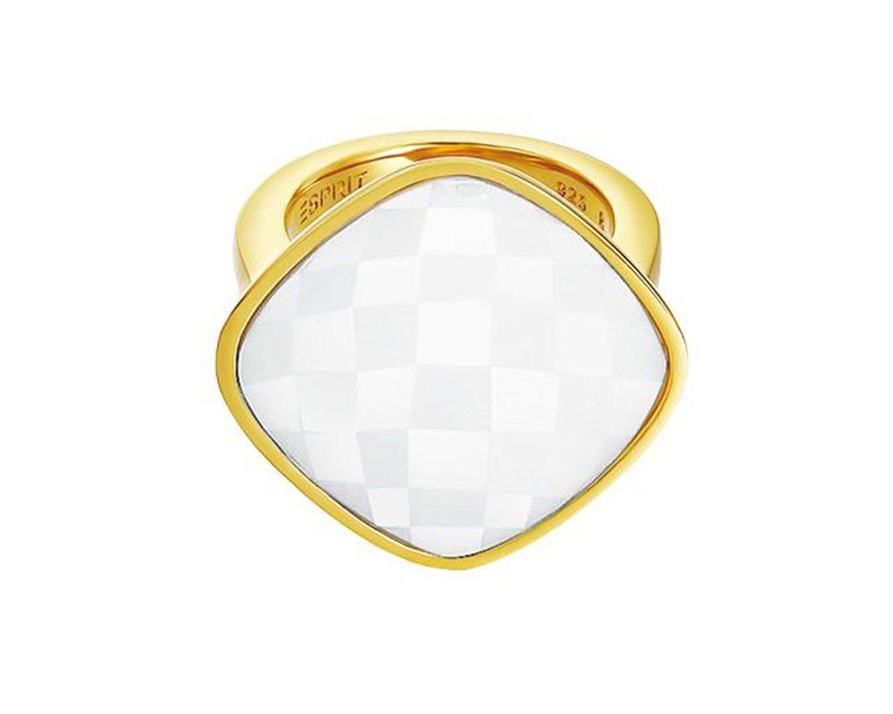 Damen-Ring Edelstahl rhodiniert Glas Glaskristall impressive white weiß