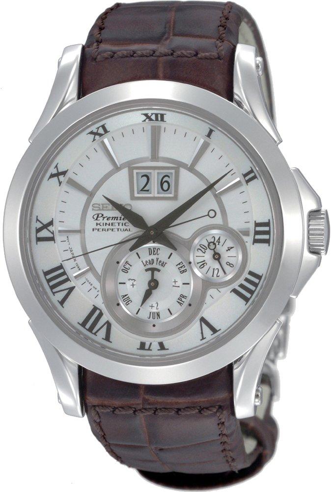 Herren-Armbanduhr XL Premier Kinetic Perpetual Analog Automatik Leder SNP023P1