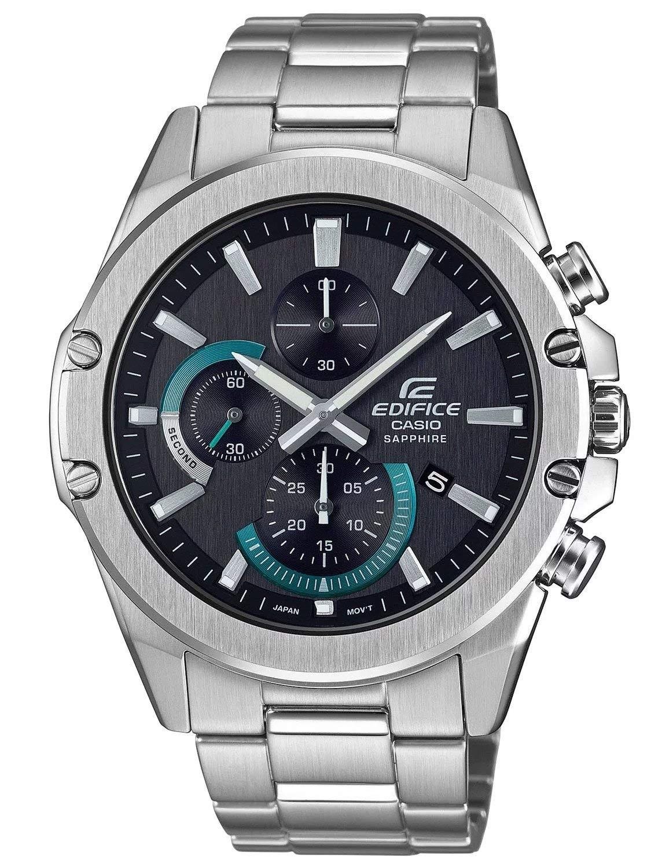 Herren Analog Quarz Uhr mit Edelstahl Armband EFR-S567D-1AVUEF