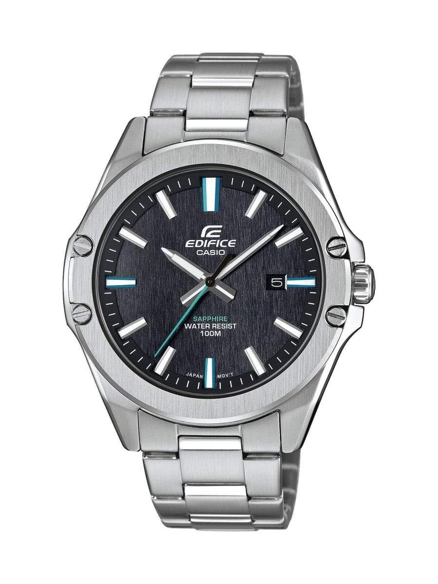 Herren Analog Quarz Uhr mit Edelstahl Armband EFR-S107D-1AVUEF