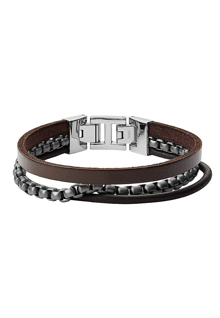 JF03319998 Herren Armband Silber Braun 19,5 cm