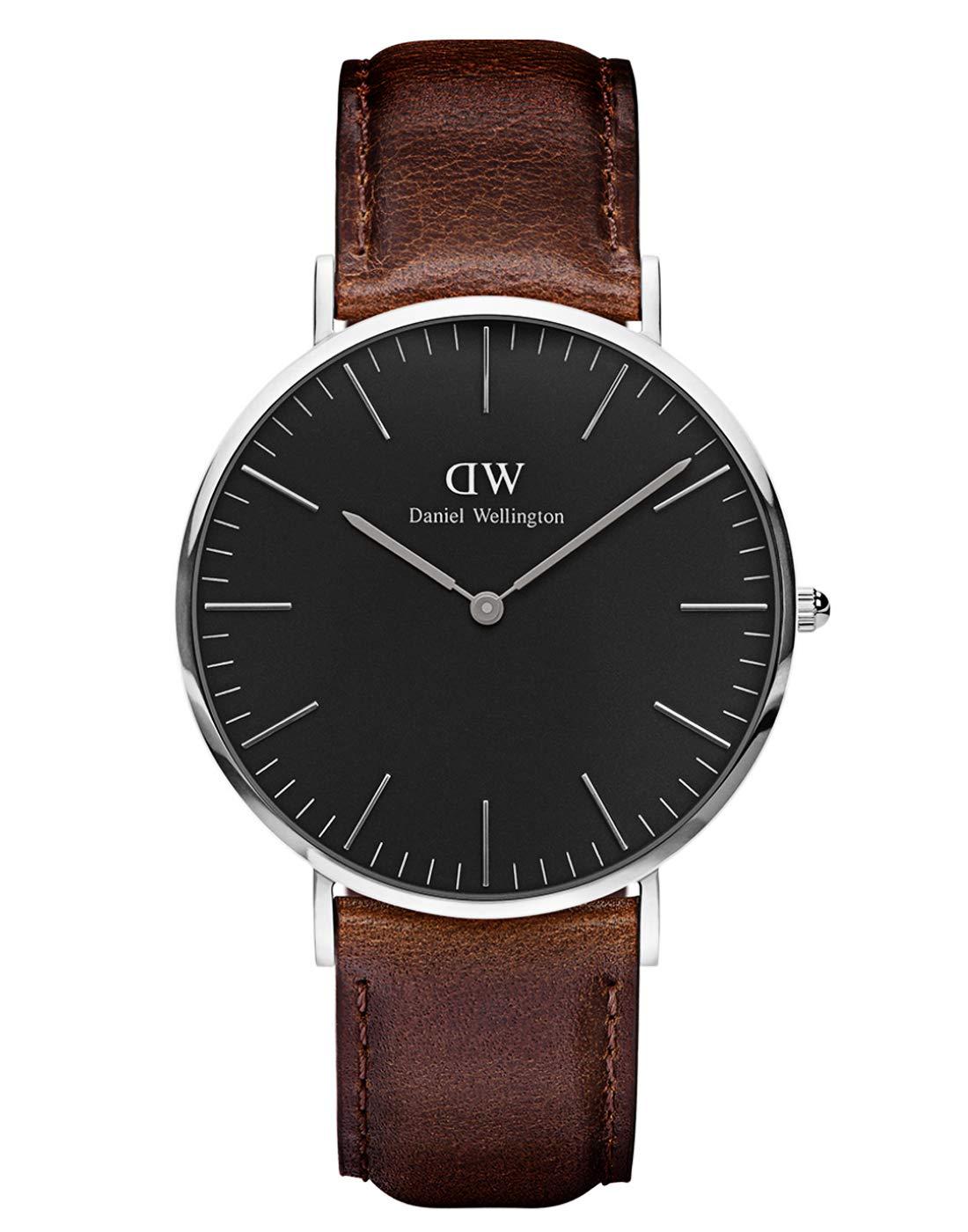 Classic Bristol, Dunkelbraun/Silber Uhr, 40mm, Leder, für Herren