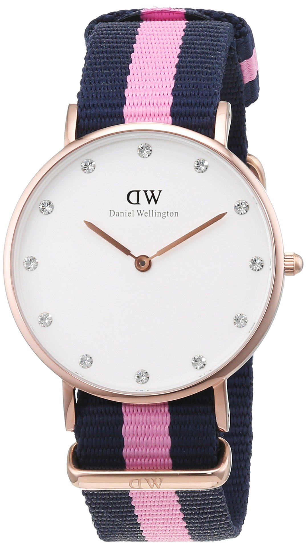 Damen Analog Quarz Uhr mit Nylon Armband DW00100077