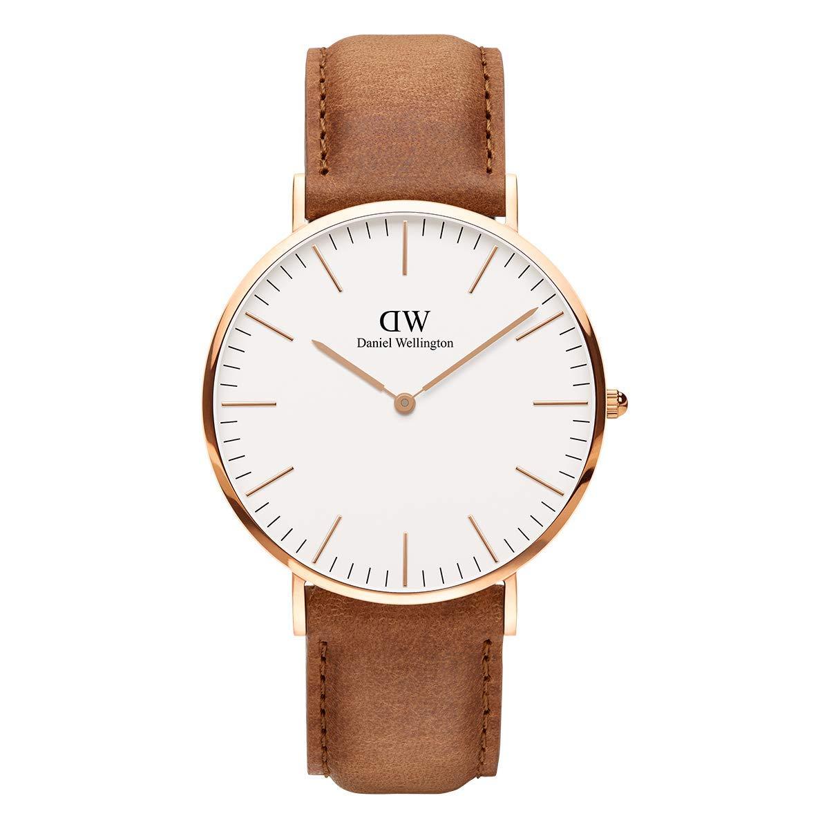 Classic Durham, Hellbraun/Roségold Uhr, 40mm, Leder, für Herren