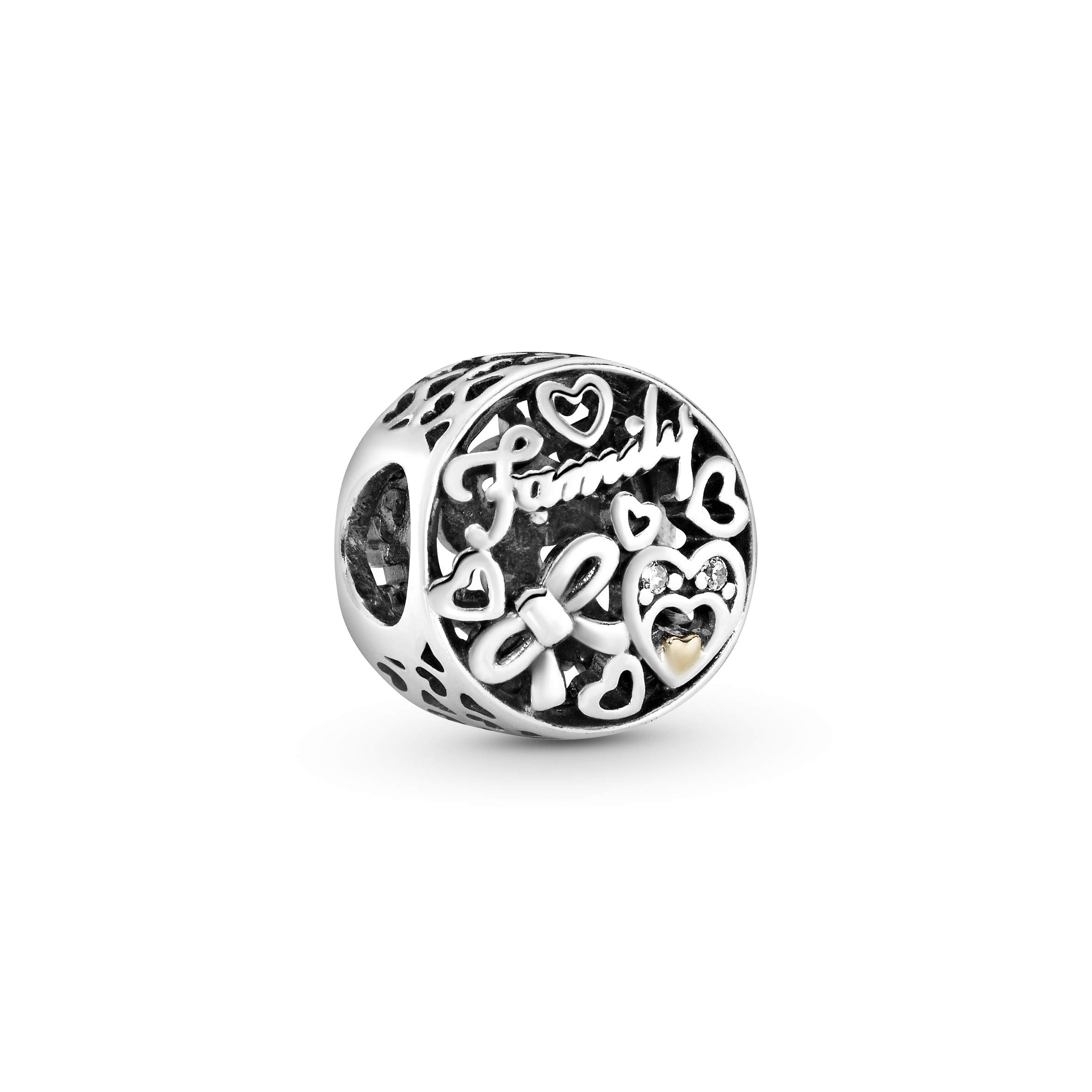 Charm Familien Tribut Sterling Silber, Gold, Cubic Zirconia 796267CZ