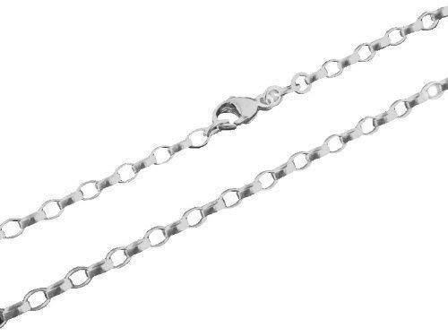 Unisex-Kette ohne Anhänger Charm Club Weitankerkette 925 Sterling Silber