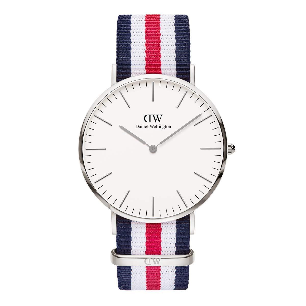 Classic Canterbury, Blau-Weiß-Rot/Silber Uhr, 40mm, NATO, für Herren