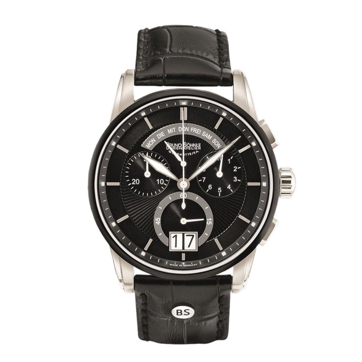 Herren-Armbanduhr XL Grandioso Chronograph Quarz Leder 17-73117-741