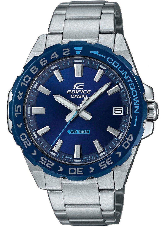 Herren Analog Quarz Uhr mit Edelstahl Armband EFV-120DB-2AVUEF
