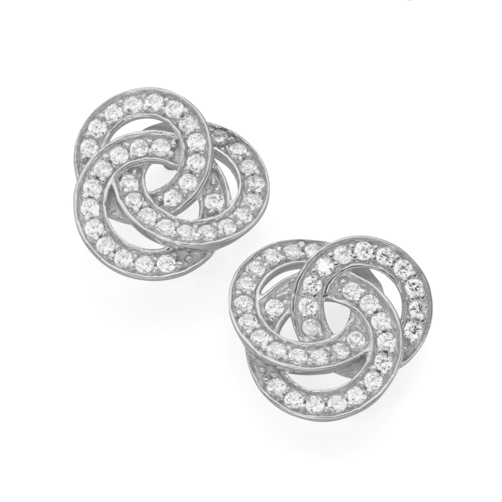 aus 3 verschlungenen Ringen mit Zirkonia, Silber 925/-