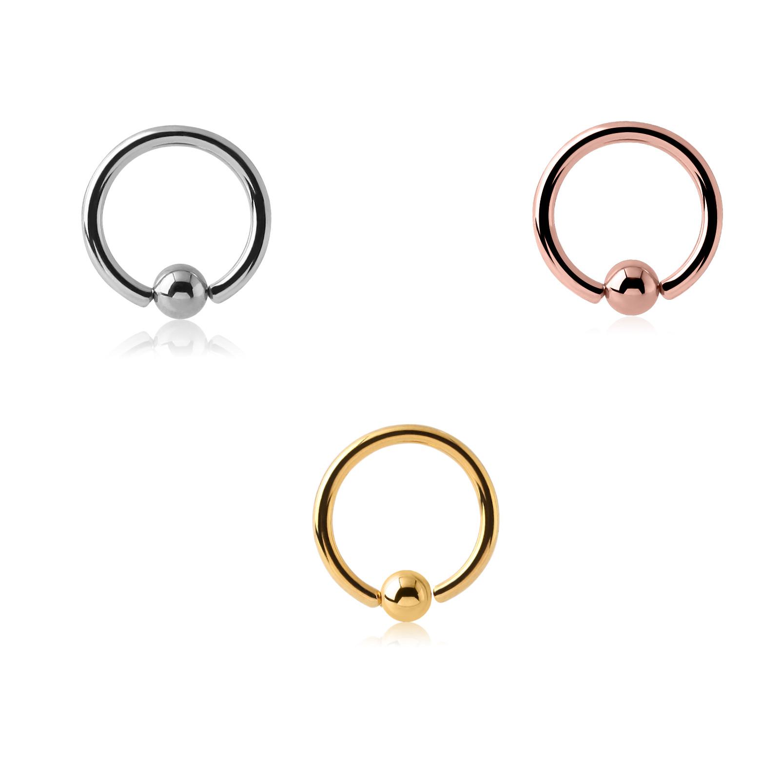 Ring, 3-teilig, Chirurgenstahl 316L