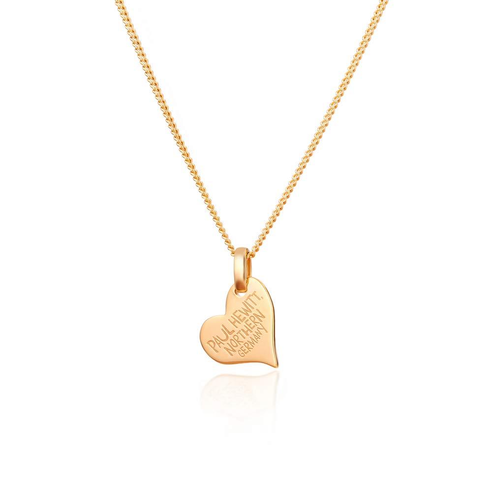 Herz Halskette Damen North Love Plated Gold aus 925 Sterling Silber