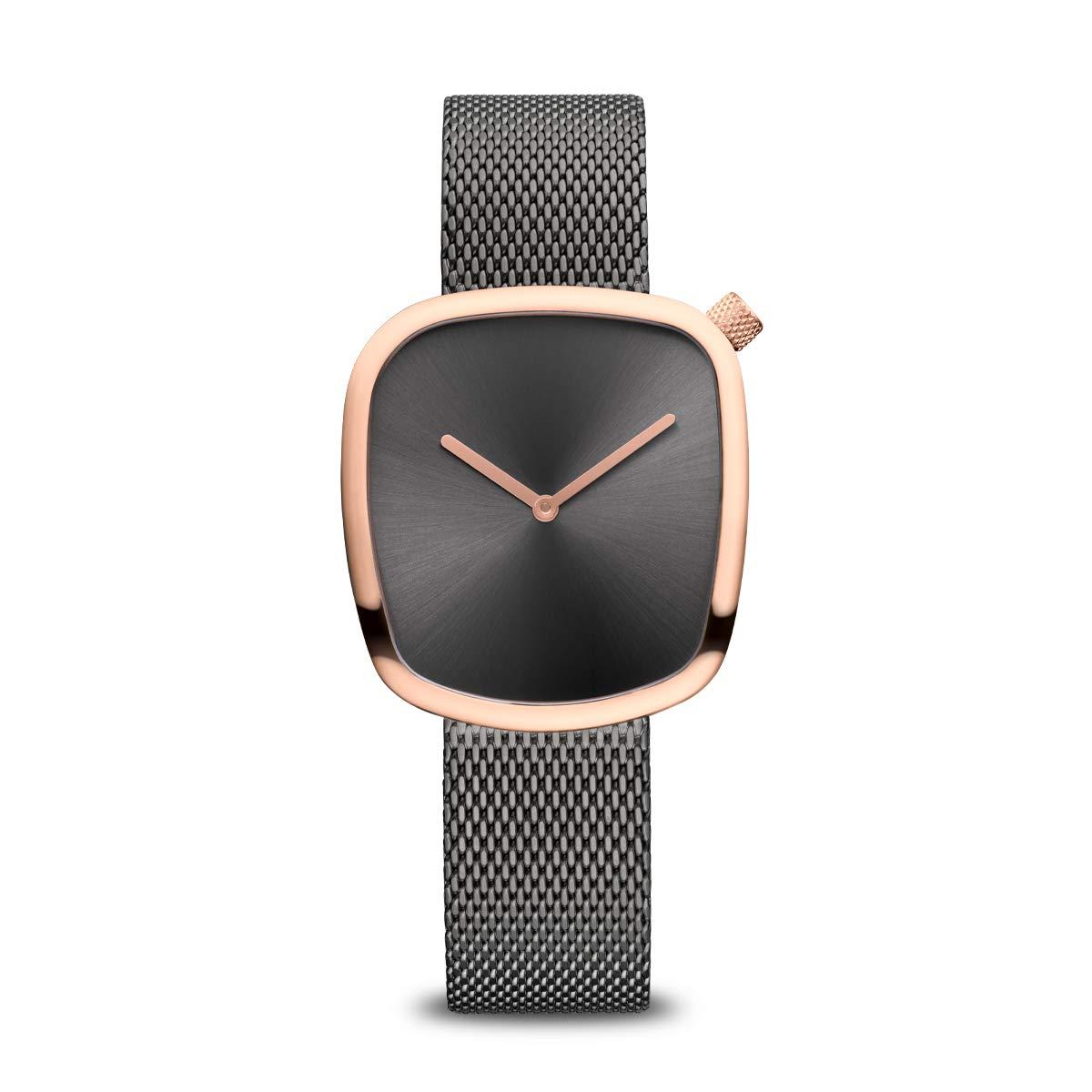 Armbanduhr analog Quarz mit Edelstahl-Armband 18034-369
