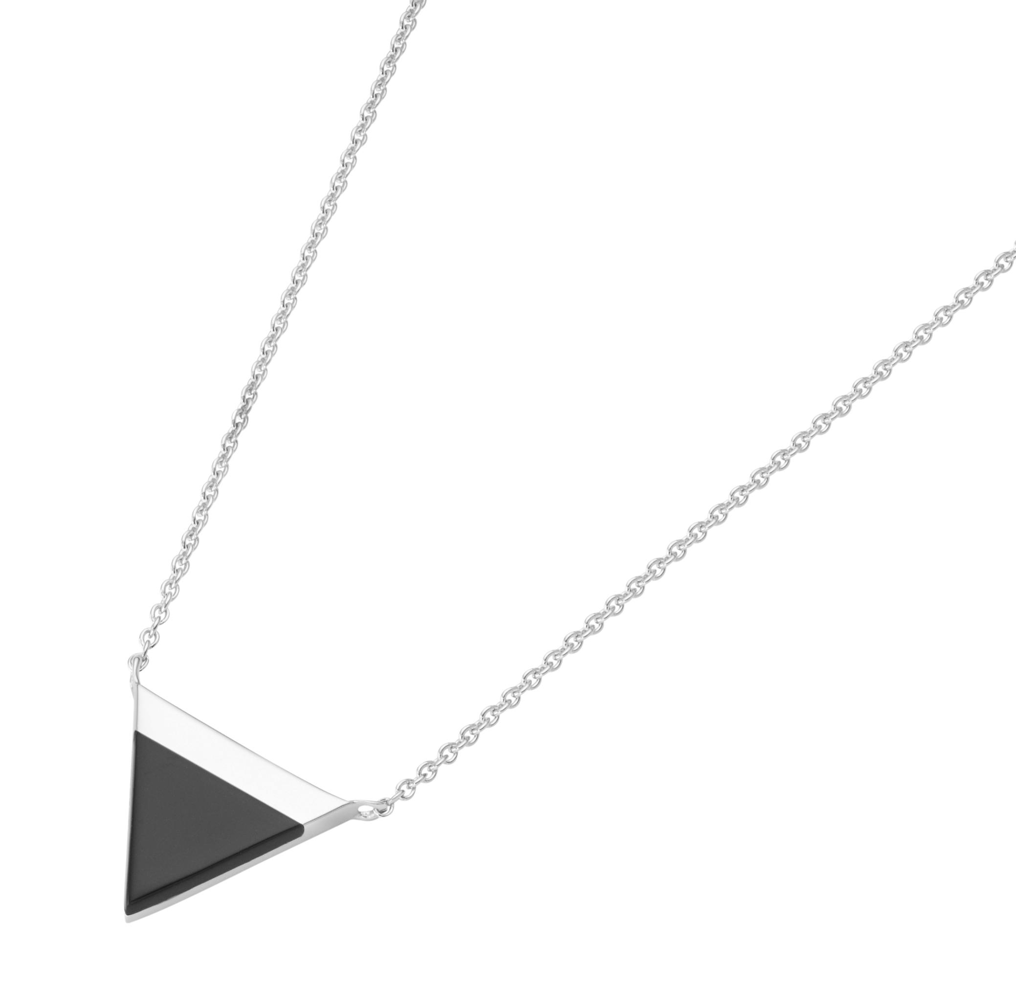 Dreieck Achateinlage, Silber 925