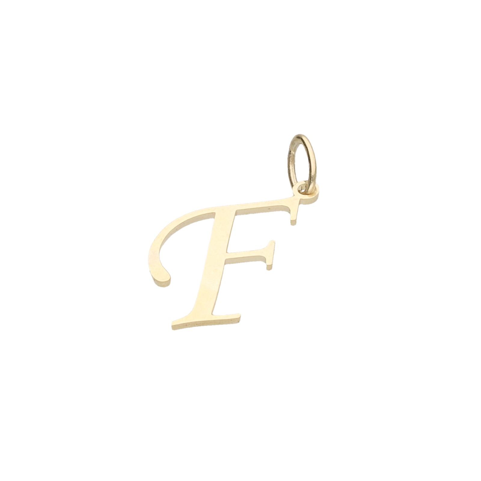 Buchstabe F, Gold 333