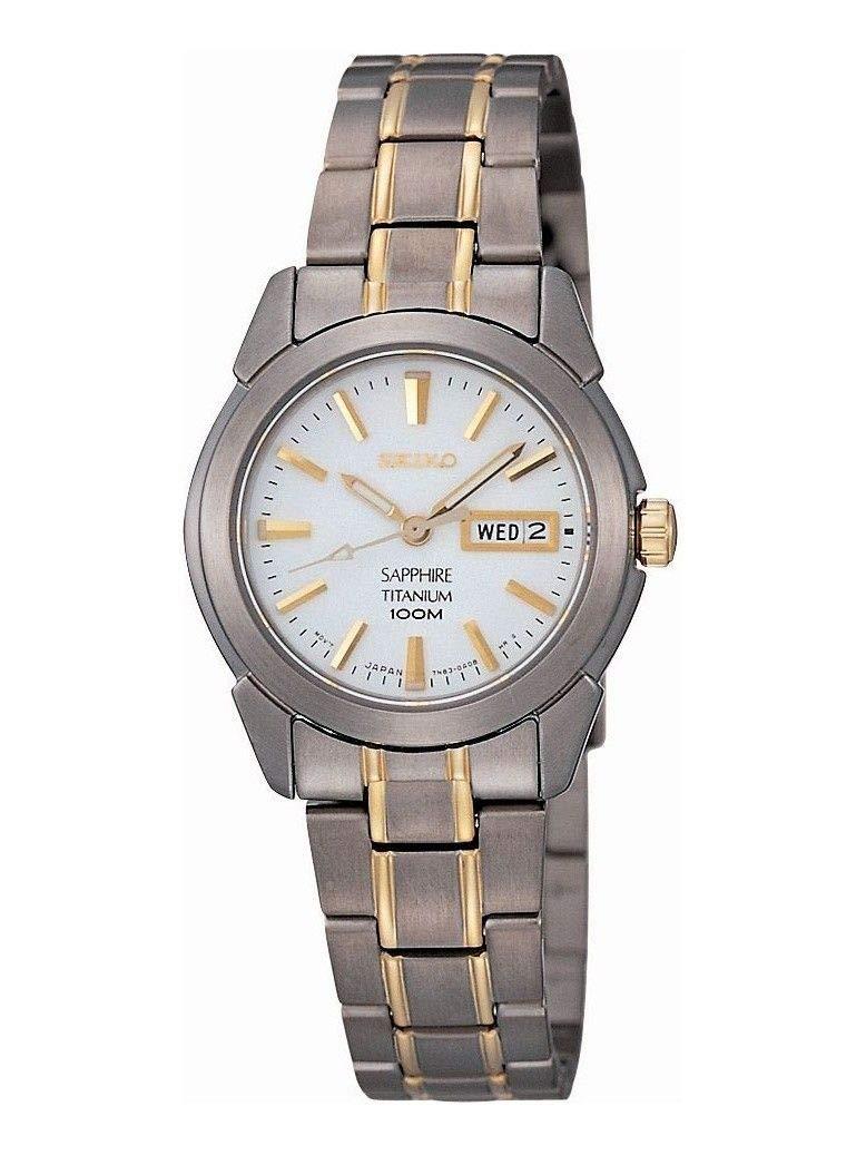 Damen Analog Quarz Uhr mit Titan Armband SXA115P1