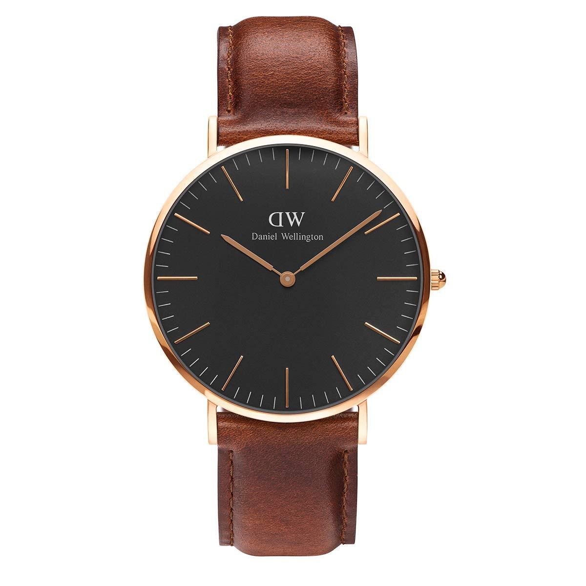 Classic St Mawes, Braun/Roségold Uhr, 40mm, Leder, für Herren