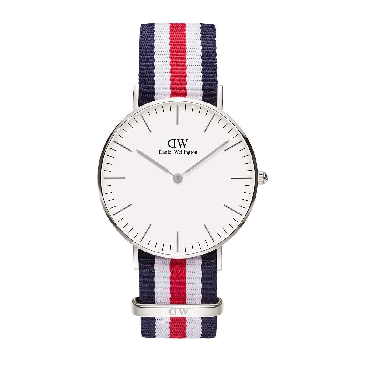 Classic Canterbury, Blau-Weiß-Rot/Silber Uhr, 36mm, NATO, für Damen und Herren