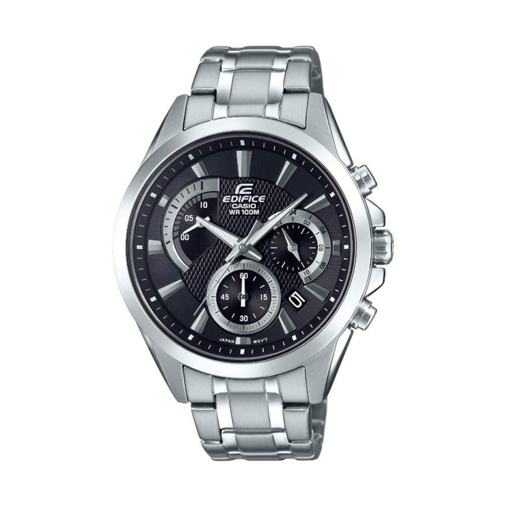Herren Chronograph Quarz Uhr mit Edelstahl Armband EFV-580D