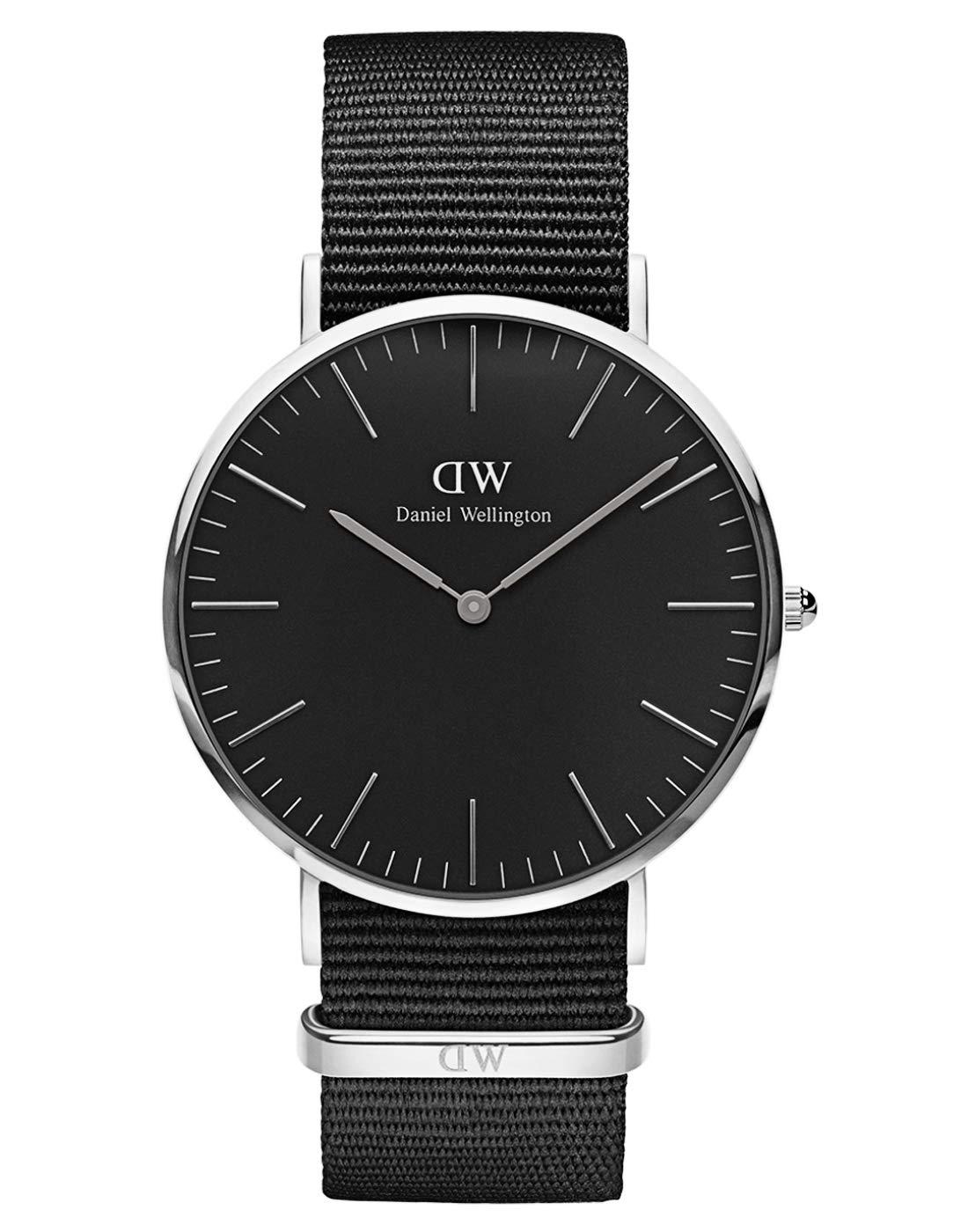 Classic Cornwall, Schwarz/Silber Uhr, 40mm, NATO, für Herren