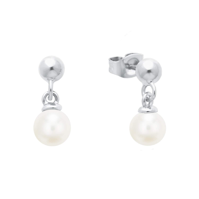 Ohrring für Damen mit Perlen aus Sterling Silber 925