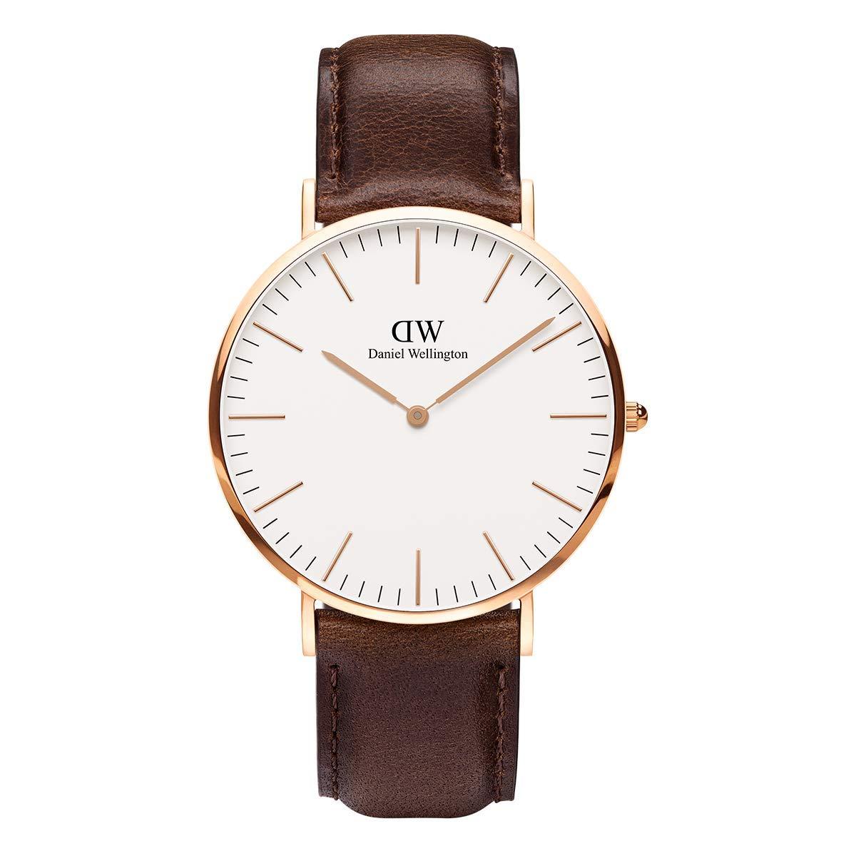 Daniel Wellington Trenduhren  Herren-Armbanduhr Analog Quarz Leder DW00100009